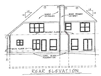 Traditional House Plan 68807 Rear Elevation
