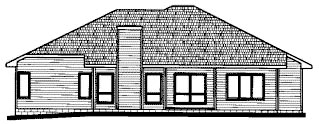 Traditional House Plan 68809 Rear Elevation