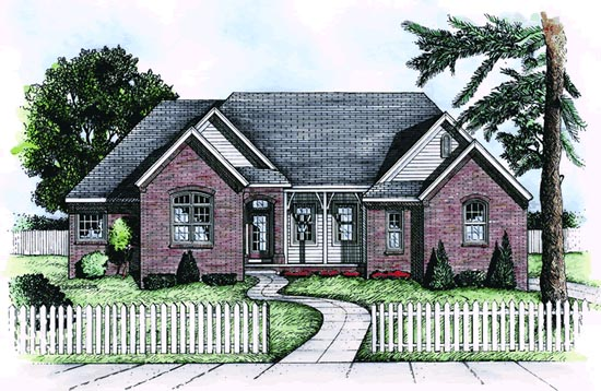 Traditional House Plan 68810 Elevation