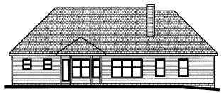 Traditional House Plan 68810 Rear Elevation