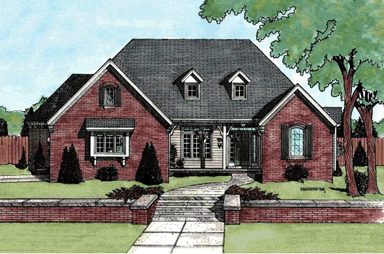 Traditional House Plan 68811 Elevation