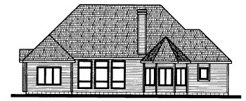 Traditional House Plan 68811 Rear Elevation