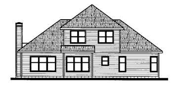 Country House Plan 68813 Rear Elevation