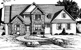 Traditional House Plan 68814 Elevation