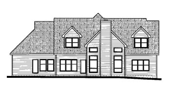 Traditional House Plan 68814 Rear Elevation