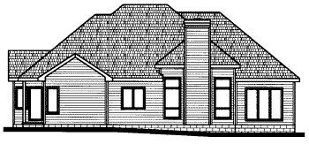 Colonial European House Plan 68816 Rear Elevation