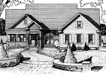 House Plan 68817 | Country Style Plan with 2266 Sq Ft, 3 Bedrooms, 3 Bathrooms, 2 Car Garage Elevation