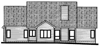 House Plan 68817 | Country Style Plan with 2266 Sq Ft, 3 Bedrooms, 3 Bathrooms, 2 Car Garage Rear Elevation