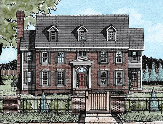Colonial House Plan 68821 Elevation