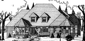 European House Plan 68822 Elevation