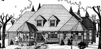 European House Plan 68822 Elevation