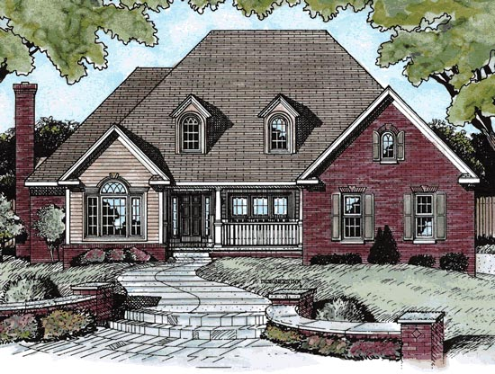 European House Plan 68823 Elevation