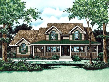 Country House Plan 68825 Elevation