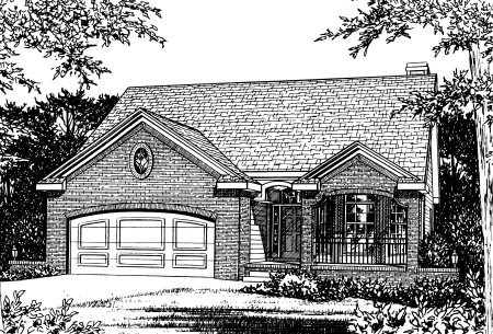 Traditional House Plan 68828 Elevation