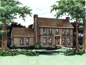Colonial House Plan 68829 Elevation