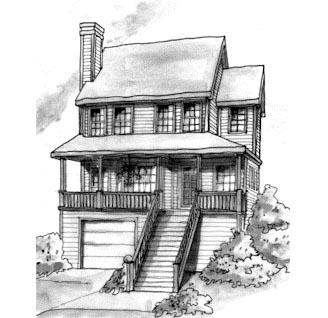 Coastal House Plan 68830 Elevation