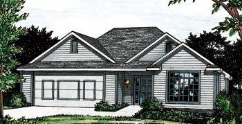 Traditional House Plan 68832 Elevation