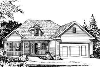 Traditional House Plan 68834 Elevation
