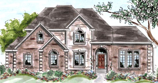 European House Plan 68841 Elevation