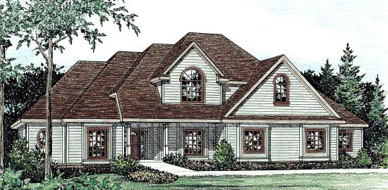 Country House Plan 68844 Elevation