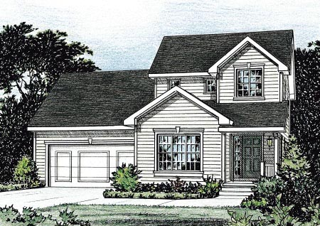 Traditional House Plan 68845 Elevation