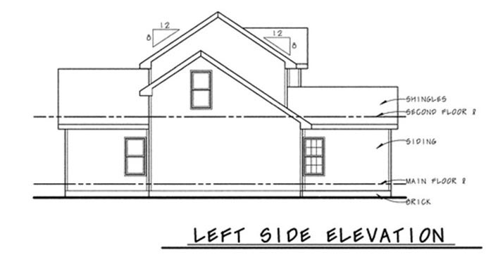 Traditional House Plan 68845 with 3 Beds, 3 Baths, 2 Car Garage Picture 1