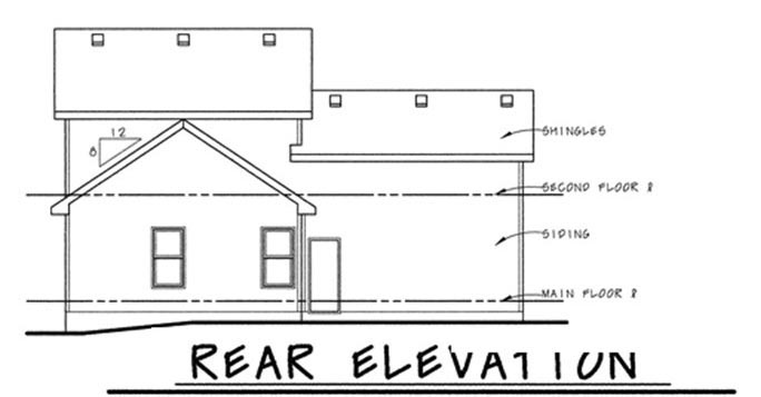 Traditional House Plan 68845 Rear Elevation