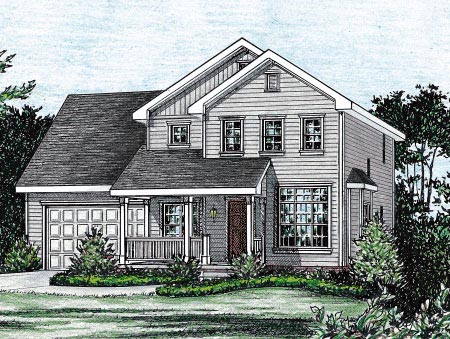 Country House Plan 68846 with 3 Beds, 3 Baths, 2 Car Garage Elevation