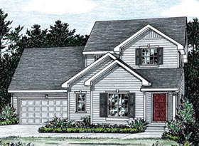 Traditional House Plan 68847 Elevation