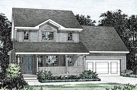 Country House Plan 68848 with 2 Beds, 3 Baths, 2 Car Garage Elevation