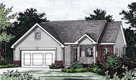 Traditional House Plan 68849 Elevation