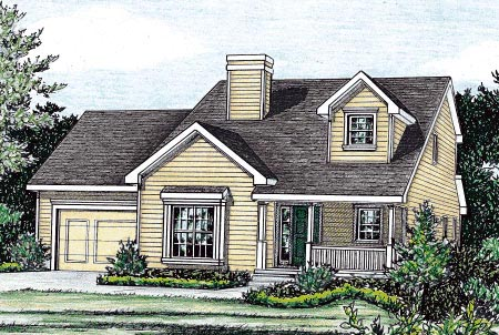 Country House Plan 68850 Elevation