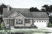 Plan Number 68851 - 1190 Square Feet
