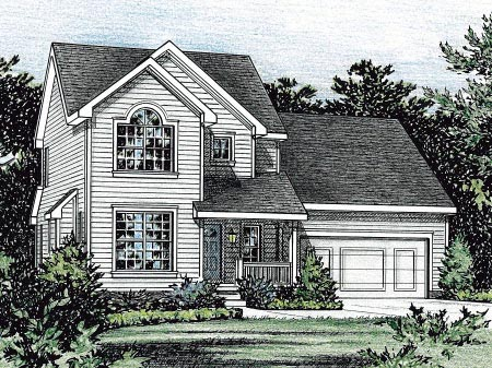 Country House Plan 68854 Elevation