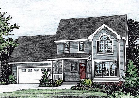 Country House Plan 68855 Elevation