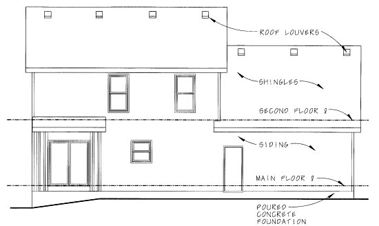 Country House Plan 68855 Rear Elevation