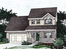 Country House Plan 68856 with 3 Beds, 3 Baths, 2 Car Garage Elevation