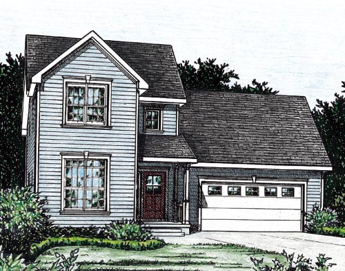 Traditional House Plan 68857 Elevation