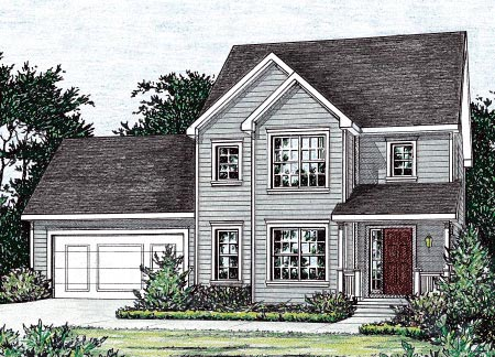 Traditional House Plan 68858 Elevation