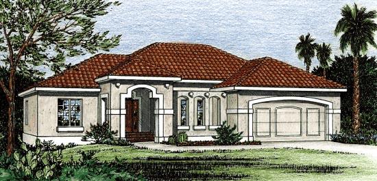 Mediterranean House Plan 68861 Elevation