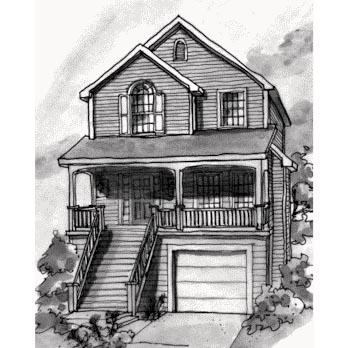 Coastal House Plan 68864 Elevation