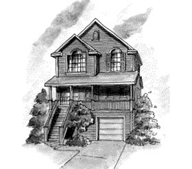 Country House Plan 68866 Elevation