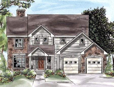 Traditional House Plan 68870 Elevation
