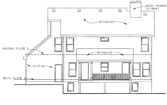 Traditional House Plan 68870 Rear Elevation