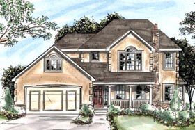 Country House Plan 68871 Elevation