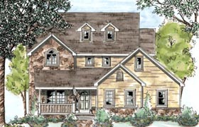 Country House Plan 68872 with 3 Beds, 3 Baths, 2 Car Garage Elevation