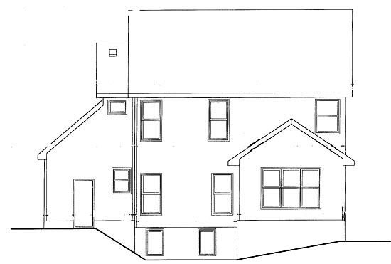 Country Rear Elevation of Plan 68872