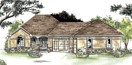 Traditional House Plan 68874 Elevation