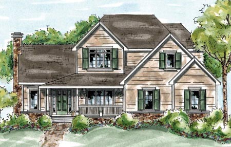 Country Farmhouse House Plan 68877 Elevation