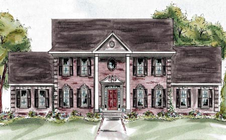 Colonial House Plan 68879 Elevation